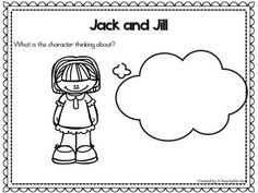Jack and Jill- Nursery Rhyme This interactive nursery rhymes resource promotes phonemic awareness, rhyming skills, oral language, and literacy skills! With Pre-Kindergarteners, Kindergarteners, 1st graders & homeschoolers in mind, this engaging resource is ideal for your literacy and poetry centers. Great for guided reading & intervention work as well!{Pre-K, K, 1st}