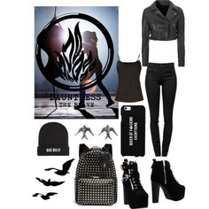 DIVERGENT * Dauntless ~ Get the look by dianasirca on Polyvore featuring polyvore fashion style Untold Glamorous Proenza Schouler Jeffrey Campbell Valentino Kill Brand