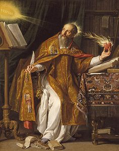Saint Augustine's heart and mind were aflame with God's truth.