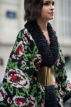 Miroslava Duma • Paris Fashion Week • Photo by Julien Boudet • bleumode.com