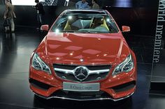 2014 Mercedes E Class Coupe in Red by AntonStetner, via Flickr  #detroitautoshow #naias