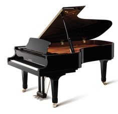 """The premium line of Kawai GX-Blak Grand Pianos embodies the dedication and innovation that has defined Kawai piano manufacturing. These beautiful artist level grands feature a host of Kawai engineering improvements and top level craftsmanship. Pictured is an industry leading 7'6"""" GX-7 Semi-Concert Grand Piano."""