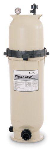 Pentair 160316 Clean & Clear Fiberglass Reinforced Polypropylene Tank Cartridge Pool Filter 100 Square Feet 100 GPM (Residential)