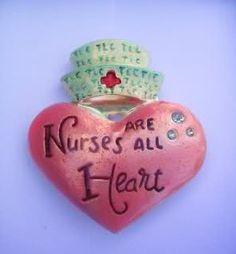 Pink Nurse Brooch - Nurses Are All Heart (Jewelry)