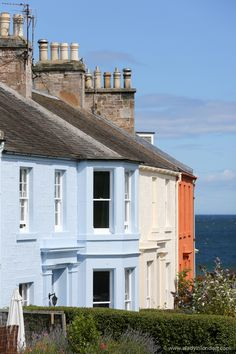 Colorful houses, North Berwick, Scotland