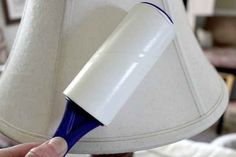 Use a lint roller to dust.