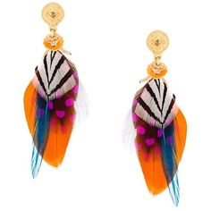 Gas Bijoux small 'Sao' feather earrings (3 165 UAH) ❤ liked on Polyvore featuring jewelry, earrings, metallic, metallic jewelry, feather jewelry, gold plated earrings, earring jewelry and gold plated jewelry