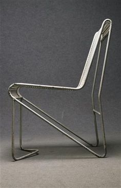 Mathieu Matégot; Enameled Steel 'Casablanca' Side Chair, 1953