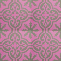 VN Pink 01 Encaustic cement tiles from Tiledesigns.com