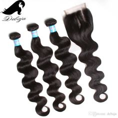 2016 Body Wave Brazilian Virgin Hair With Lace Frontal Closure 3bundles Human Hair Weaves With Lace Frontal Closure 7a 4*4 Lace Frontal Closure From Debaja, $65.86 | Dhgate.Com
