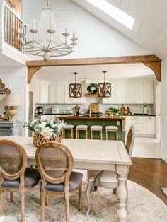 Beautiful DIY Faux Wood Beam Room Divider Tutorial