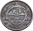 2 Shillings (Zuid Afrikaansche Republiek) - reverse. (1892/3/5 rare) Old Coins, Rare Coins, English Coins, African Animals, African History, Postage Stamps, South Africa, Texas, Retro