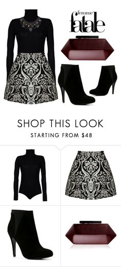"""""""A Mysterious Pattern"""" by latoyacl ❤ liked on Polyvore featuring Boutique de la Femme, Alice + Olivia, ALDO, Lipsy and BCBGMAXAZRIA"""