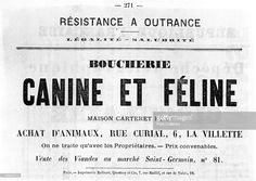 Boucherie Canine et Feline, from French Political posters of the Paris Commune, May 1871.