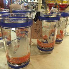 Vintage matching glass set