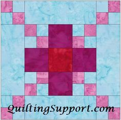 Flower Foundation Quilting Patterns