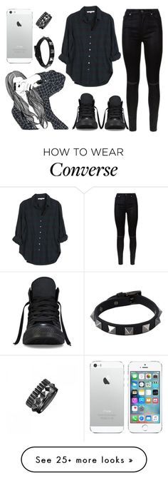 """Untitled #156"" by marleen5marleen on Polyvore featuring moda, 7 For All Mankind, Xirena, Waterford, Valentino y Converse"