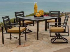 OW Lee Gios Aluminum Dining Set | GOSLC