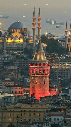 A gorgeous city with its Galata Tower and Sultan Ahmet Mosque Istanbul, Turkey Istanbul City, Istanbul Travel, Hagia Sophia, Wonderful Places, Beautiful Places, Visit Turkey, Blue Mosque, Turkey Travel, Turkey Vacation