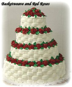 The top 3 layers and with the topper on it instead of the big bunch of flowers.
