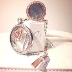 Gifts for her.. Origami Owl legacy locket.. Medium rose gold locket. scatlin.origamiowl.com