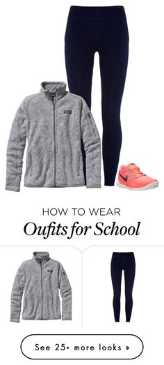 """No school for me (Read D)"" by morgantaylor37 on Polyvore featuring NIKE, Sundry and Patagonia"
