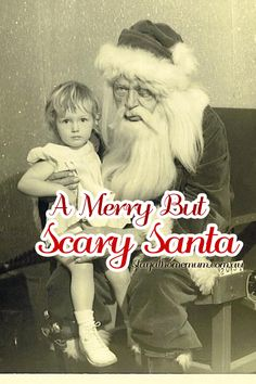 When Santa looks like a crack addict it's probably best for everyone if you don't put your child on his lap!