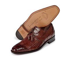 """Mauri - """"1029"""" Alligator Hand-Painted Burnished Dress Shoe"""