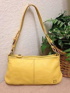 835741766b6 The Sak Yellow Leather Signature Nylon Trim Shoulder Handbag Satchel Bag  Small   eBay Satchel Bag