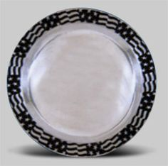 61-921 - Flag Rim Bread & Butter Plate Plates And Bowls, Decorative Plates, Flag, Butter, Bread, Tableware, Dinnerware, Brot, Tablewares