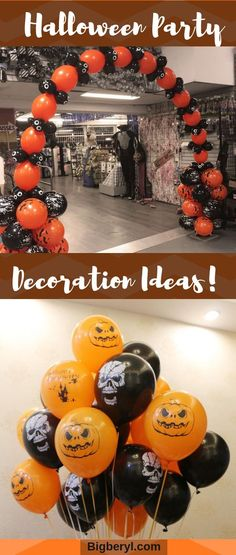 Halloween Party Decorations Ideas - Vintage Pumpkin Scary Pirates latex balloons for outdoor and indoor house party decor. Outdoor Halloween, Halloween House, Halloween Diy, Diy Halloween Decorations, Balloon Decorations, Confetti Balloons, Latex Balloons, Pumpkin Decorating, House Party