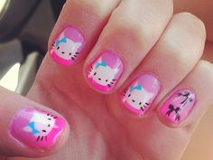 nails designs | cute nail designs 26 Overwhelming Hello Kitty Nail Designs
