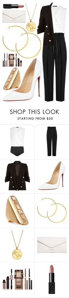 """""""Untitled #721"""" by clothyoulike ❤ liked on Polyvore featuring Boohoo, 3.1 Phillip Lim, River Island, Christian Louboutin, Elizabeth and James, Chupi, Vera Bradley, Physicians Formula and NARS Cosmetics"""