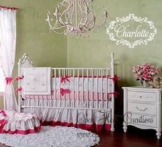 Shabby Chic Baby Girl Name Wall Decal