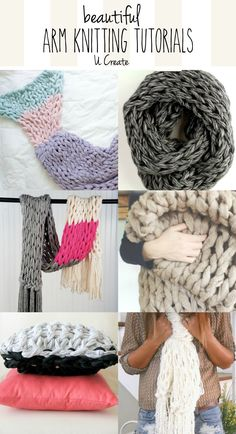 Who else is in love with the chunky knitting look that you can only get from arm knitting? It's beautiful, it's comfortable…it's GORGEOUS. Find these beautiful arm knitting tutorials from these talent