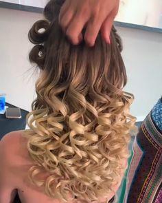 Open Hairstyles, Braided Ponytail Hairstyles, Easy Hairstyles For Long Hair, Half Updo Tutorial, Hair Upstyles, Curls For Long Hair, Glam Hair, Hair Videos, Hair Hacks