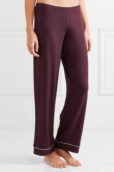 Eberjey - Gisele Stretch-modal Jersey Pajama Set - Burgundy - medium