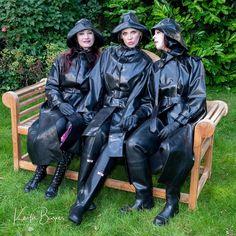 Rubber Raincoats, Rain Gear, Dancing In The Rain, Black Rubber, Rain Jacket, Windbreaker, Punk, How To Wear, Branding
