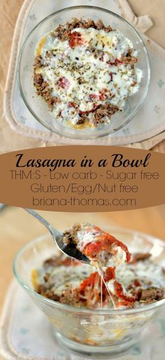 Single-Serve Lasagna in a Bowl - Keto Recipes - Ideas of Keto Recipes - Single-Serve Lasagna in a BowlTHM:S low carb sugar free gluten/egg/nut free Bariatric Recipes, Lunch Recipes, Low Carb Recipes, Diet Recipes, Cooking Recipes, Beginner Recipes, Ketogenic Recipes, Atkins Recipes, Bariatric Eating
