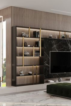 Tv Feature Wall, Feature Wall Living Room, Feature Wall Design, Tv Wall Design, Living Room Tv, Modern Luxury Bedroom, Luxury Modern Homes, Luxurious Bedrooms, Interior Design Inspiration