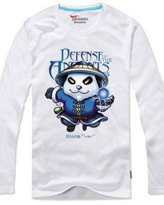 Camisas de manga longa para homens Dota 2 herói Storm Spirit impressos-