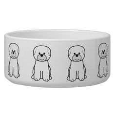 Bichon Frise Dog Bowl - gotta get 3 of these for my girls.