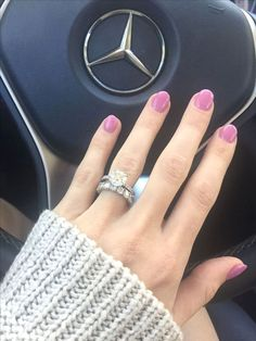 Engagement Ring Simple brilliant round 2 .19 carat solitaire with pave band & infinity wedding band ~ Stop by #Capri #Jewelers #Arizona for #Stunning #Jewelry & Incredible #Deals or #Shop #Online @ www.caprijewelersaz.com