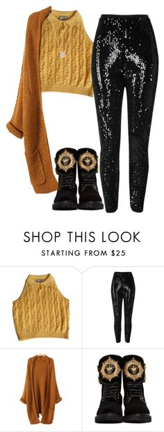 """""""Untitled #435"""" by reesescup3000 ❤ liked on Polyvore featuring Versace, River Island, Balmain and Adina Reyter"""