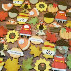Fall Thanksgiving sugar cookies pumpkin spice sunflower Turkey  Keri's Kreations
