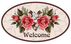 Vintage welcome sign pink roses printable Vintage Tags, Vintage Diy, Shabby Vintage, Vintage Labels, Vintage Flowers, Vintage Prints, Decoupage Vintage, Decoupage Art, Molduras Vintage