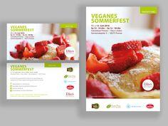 Flyer und Plakat für ein veganes Sommerfest www.haus-linden.de