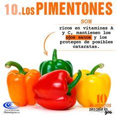 #10AlimentosParaCuidarLosOjos  El #Pimentón además de ser un alimento delicioso en las comidas, contiene vitaminas beneficiosas para la #Salud de nuestros #Ojos.