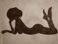 Drawing - woman silhouette