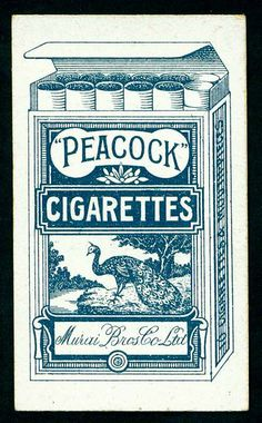 Cigarette Card Packet Back - Peacock Cigarettes | Flickr - Photo Sharing!